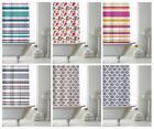 Shower Curtain with Ring Hooks, Stylish Bathroom Shower Curtains, 180 x 180 cm