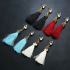 Fashion Woman Crystal Gold Black Tassle Fringe Earring Beach Holiday Ladies Gift