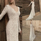 Women Backless Lace Sheer Crochet V Neck Slim Party Club Wedding Long Maxi Dress