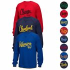 NBA Adidas Originals Classics Team Logo Fleece Crew Script Sweatshirt Men's