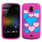 Flower/White/Pink/Black/Love Silicone Skin Case For Samsung Galaxy Nexus i515