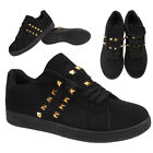 Womens Ladies Girls Studded Skaters Fashion Trainers Sneaker Size UK 3 4 5 6 7 8