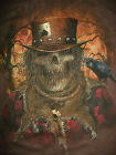 Brown Mens Tee Short Sleeve *XL XXL XXXL* Scarecrow Gamble Crow Creepy Hat Skull