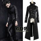 Black and High Collar 2ways jacket with crosses and LONG coat Y364