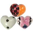 Miniature Soapstone Hearts Handmade in Kenya  Fair Trade 3 Designs To Pick From