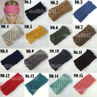 Winter women knit headbands crochet hairband ear warmer soft beanie headwrap