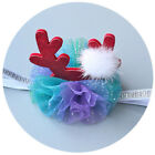 Baby Girls Xmas Chritmas Hat Antlers Hairband Elastic Headband Party Hair Band