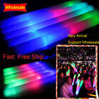 90/180PCS LED Stick Light Up Foam Stick Rally Rave Batons DJ Flashing Glow Wands