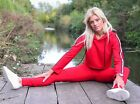 Ladies Sporty Stripe Hooded Crop Two Piece Slim Fit Casual Lounge Suit Tracksuit