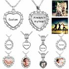 Personalised Engraved Custom DIY Photo Picture Pendant Necklace Family Jewelry