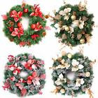 Best Artificial Christmas 60cm Frosted Red or Gold Decorated Wreath LED Lights