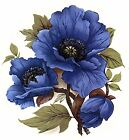 Blue Poppy Flower Select-A-Size Waterslide Ceramic Decals Bx image
