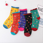 Christmas Xmas Rolled edge Socks Cute Cartoon Hosiery Gift snowman snowflake C