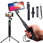 Extendable Selfie Stick+wireless Remote Shutter+Tripod Mount for iPhone 11 XS 8