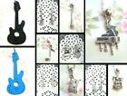 MUSICAL INSTRUMENTS ROCK GUITAR MICROPHONE DRUMS PIANO NECKLACE EARRINGS CHARM