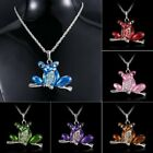 Lovely Frog Animal Pendant Necklace Sweater Long Chain Family Party Jewelry Gift