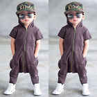Kids Baby Boy Zip pocket Romper Jumpsuit Bodysuit Hoodie Clothes Outfit height