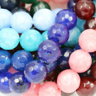 10mm Faceted Round Agate Semi-precious Gemstone Beads for Jewellery Making