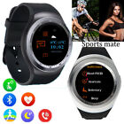 Round Bluetooth Smart Watch Pedometer Handsfree Call for Android Sports Running