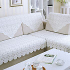 Lace Embroidery Table Cloth White Flower Tablecloth Bedstand Sofa Towel Cover