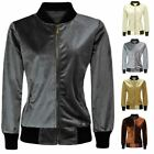 CLEARANCE WOMENS LADIES VELVET BOMBER HOODIE VELOUR RETRO CLASSIC JACKET TOP