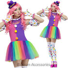 CL787 Clownin' Around Funny Clown Costume Circus Carnival Fancy Dress Up Party