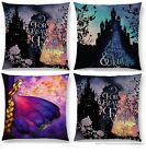 BELLE CINDERELLA QUOTATION RAPUNZEL CUSHION COVER DISNEY WOVEN SILHOUETTE