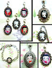 BETTY BOOP CLIP ON CHARM OR NECKLACE OR BRACELET OR BOOKMARK