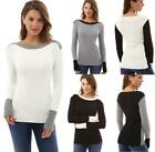 New UK Womens Multicolor Sweatshirt Jumper Winter Pullover Sweater Ladies Top