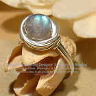 LOVELY LABRADORITE 925 SILVER RING - All Sizes