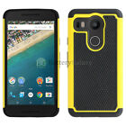 NEW LOT Hybrid Rugged Rubber Hard Case for Android LG Google Nexus 5X 200+SOLD