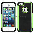 NEW LOT Hybrid Rugged Rubber Hard Case for Apple iPhone 5 SE 5G 5S 200+SOLD