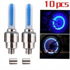 10 x LED Lamp Flash Tyre Wheel Valve Cap Light For Car Bike Bicycle Motorcycle