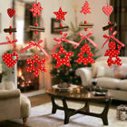 Wooden Charms Ormaments Christmas Tree Festival Decoration Pendant New /b