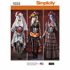 Simplicity # 1033 S0257 Skelton Bride Day Of The Dead Misses Costume NEW UNCUT