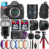 Canon EOS 5DS DSLR Camera + 24-105mm 4L IS II + Pro Flash + 9PC Filter + 48GB