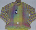 New Mens POLO Ralph Lauren Plaid Linen Blend Long Sleeve Shirt Size L MSRP $145