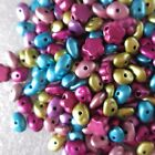 300 - 1000 x Metallic Acrylic Chip Spacer Beads - 8 Colours - Jewellery making