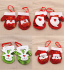 4Pcs Christmas Xmas Tree Red Gloves Bauble Hanging Home Party Ornament Decor