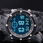 INFANTRY Mens LCD Digital Wrist Watch Date Chronograph Alarm Sport Army Rubber