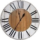 Gracie Oaks Oversized Bryan Farmhouse Wall Clock