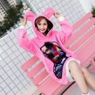 Loose Cute Rabbit Hood Cat Lover PINK long-sleeved top Shirt