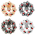 1PC Women Girls Christmas Rhinestone-encrusted Alloy Ornaments Delicate Bell Pin
