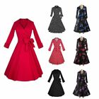 Fashion Lady Women Vintage 50s 60s Rockabilly Retro Pinup Swing Prom Party Dress