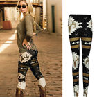 Fashion Women Casual Christmas Skinny Elk Deer Printed Stretchy Pants Leggings
