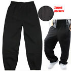Mens obese super large extra Wide Baggy loose fleece trousers Pants  S M L XL