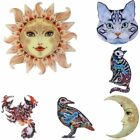 New Fashion Printing Pattern Cat Moon Animals Pin Brooch Women Jewelry Xmas Gift