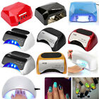 9/24/36/48W Electric UV Lamp Gel Nail Polish Curing Light Dryer With Timer&Bulbs