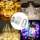 10M 100 LED Battery Powered Fairy String Lights Xmas Party With Remote Control