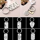 Engraved Letter Stainless Steel Keychain Key Chain Keyring Pendant Accessories